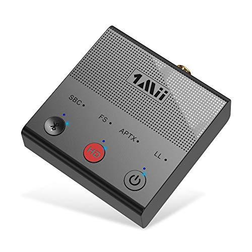 1mii Bluetooth Adapter PC TV Bluetooth Transmitter aptX HD & Geringer Latenz Großer Reichweite, Bluetooth Sender mit Bluetooth 5.0 Optischen Koaxialen RCA AUX 3,5mm PC USB Audioeingängen (Black)