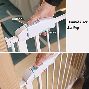 Porte en Métal Extra Large À Travers La Barrière for Animaux Domestiques for Escalier avec Rampe Et Mur, Hauteur 75 Cm, Largeur en Option (Size : 225-232cm)