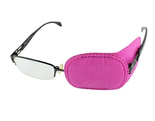 6 parches para ojos para ambliopía, parches para gafas de niños, para estrabismo, ojo vago, color rosa