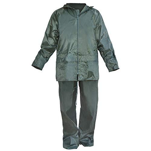 Ferko AR-132/RNG-XXL Ingenieur-wetsuit groen/PVC capuchon in kraag met ritssluiting en manchetten met elastiek maat XXL