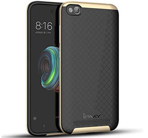Tumundosmartphone Funda IPAKY Tipo Neo Hybrid (PC+TPU) Negra/Dorada para XIAOMI REDMI 5A 5