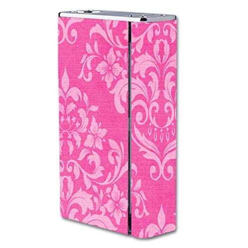 Decal Sticker Skin WRAP Pink Damask Vintage Effect Pattern Background for Smok X Cube II 160W TC