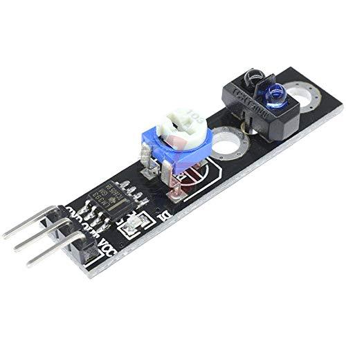 3.3V-5V TCRT5000 IR Infrared Line Track Sensor Module Obstacle Avoidanc Reflection Infrared Sensor Switch Module for Arduino