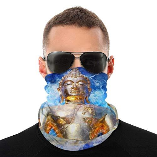 Nother Máscara de meditación Zen Meditate On The Buddha Headwear bufanda cortavientos, máscara antipolvo, lavable, doble impresión