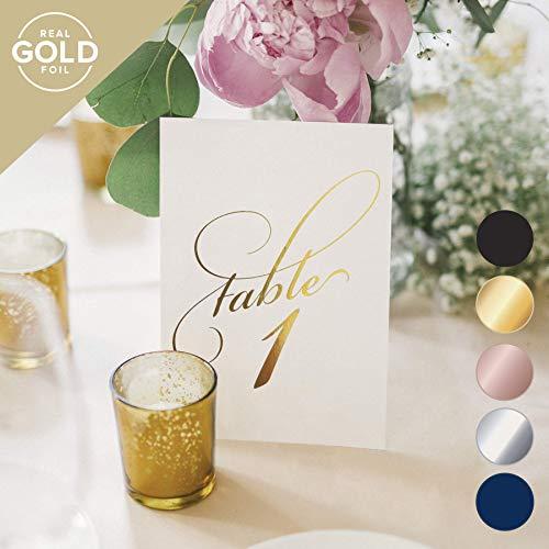 Bliss Papier Boutique Classic Tisch Zahlen 1-25 Gold