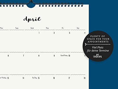 Großer Monatskalender | Kalender 2020/2021 | Wandkalender | Geschenk zum Einzug | Semesterbeginn | Familienorganisation