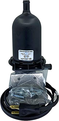 HOTSTART TPS101GT10-000 Engine Heater | Heating Fluid: Engine Coolant, Water, other - No pump needed | Auto Thermostat Range ON: 100°F – OFF 120°F | The best solution to keep your Engine Warm!