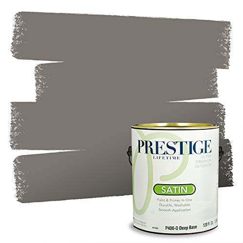 Prestige interior paint and primer in one, mountain gray, satin, 1...