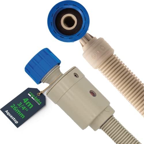 REP:LABS Waschmaschinenschlauch [4 Meter] Aquastop Schlauch für Spülmaschine & Waschmaschine   Sicherheits-Zulaufschlauch