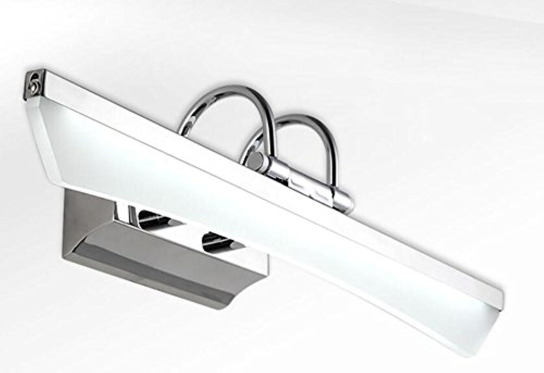 Unbekannt LED-Spiegel-Lampe Moderne Minimalistische Edelstahl-Badezimmer-Spiegel-Kabinett-Licht