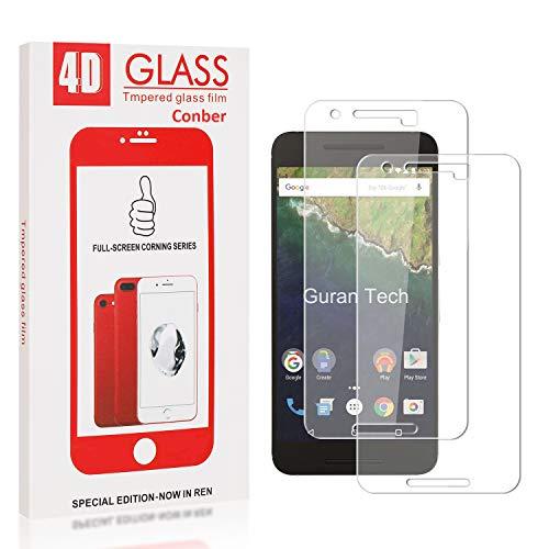 Conber [2 Stück] Displayschutzfolie kompatibel mit Huawei Nexus 6P, Panzerglas Schutzfolie für Huawei Nexus 6P [9H Härte][Hüllenfreundlich]