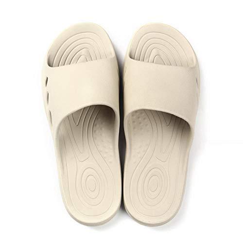 MQQM Chanclas de Playa y Piscina para Unisex Suave,Zapatillas Antideslizantes de baño Simples, Sandalias Suaves de Interior-Khaki_44-45,Zapatillas de Ducha para Mujeres