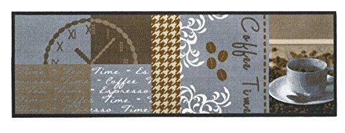 Küchenläufer Kaffee/Küchen Läufer Coffee/Küchenmatte waschbar Modell,Cook & WASH Coffee time Cappuccino Kaffee Espresso Größe ca. 50 x 150 cm