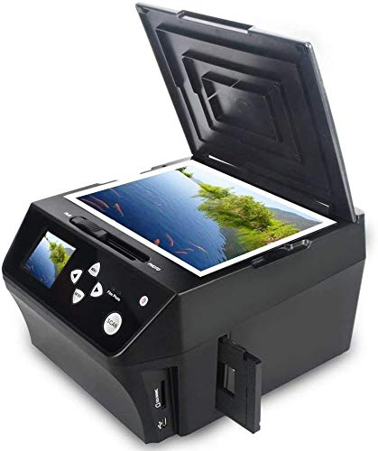 22MP Film &Slide Photo Scanner multifunzione, Convertire 135 Film/35mmSlide /110Film/Foto/Document/Biglietto da visita in HD 22MP Digital JPG, include scheda di memoria da 8 GB.