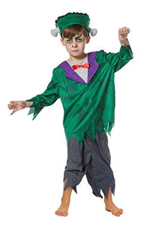Jannes - Kinder-Kostüm Frankenstein mit Knochen durch Kopf Mütze 128