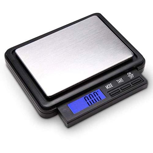 Báscula Digital para Alimentos Báscula de Cocina Pantalla retráctil, 2 kg / 0.1 G Báscula electrónica, Báscula de Cocina LCD