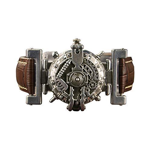 Traje de Mujer Steampunk, Relojes de la Correa de Cuero de la Personalidad Punk de Vapor Retro Reloj Masculino Reloj de Cuarzo no mecánicos