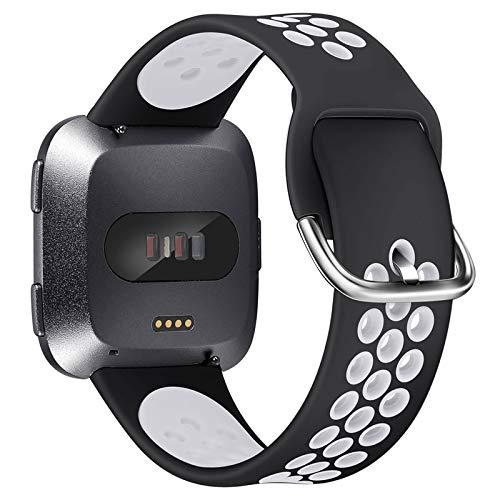 XIMU Compatibile con Fitbit Versa Cinturino Versa 2 Cinturino Versa Lite Cinturino, Regolabile Morbido Sportivo di Ricambio Banda in TPU Silicone Accessori Compatibile con Fitbit Versa