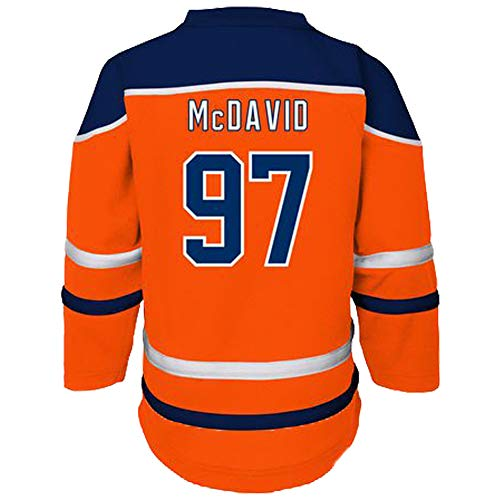 Connor McDavid Edmonton Oilers #97 Kids Orange Player Stripe Fashion Jersey (Small/Medium 4/5)