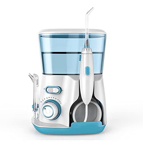 N \ A Flosser Agua Dental, 800Ml Profesional Irrigador Oral con 5 Multifuncional Jet Consejos, 10 Ajuste De Presión De Agua Encimera Agua Hilo Dental para La Limpieza del Diente,A