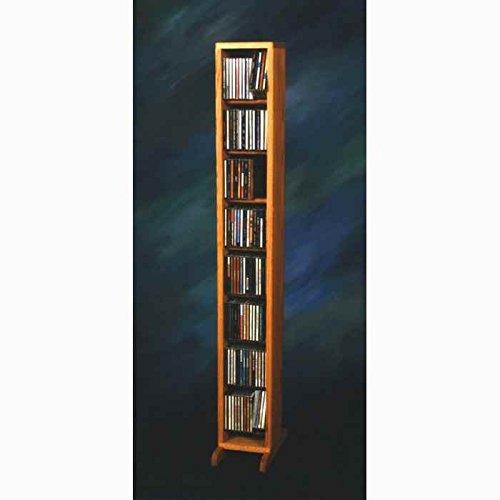 Dowel CD Storage Tower (Honey Oak)