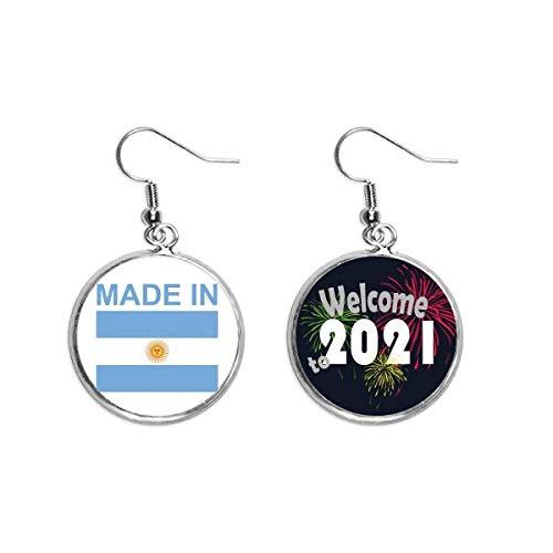 Hecho en Argentina País Amor Pendientes Pendientes Joyería 2021 Bendición