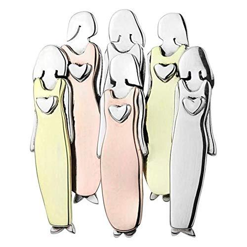 Generp Brosche Mädchen Schwesternschaft Brosche Pin Sammlung Mixed Metals Handcraft Kleidung Pin Kleid und Jacke Zubehör für Frauen und Mädchen