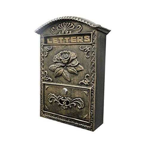 WCJ Huishoudelijke eenvoud Vintage muur opknoping brievenbus post Office Box met 2 sleutels geleverd-24.5 * 8.2 * 34,5 cm brievenbus, villa, restaurant