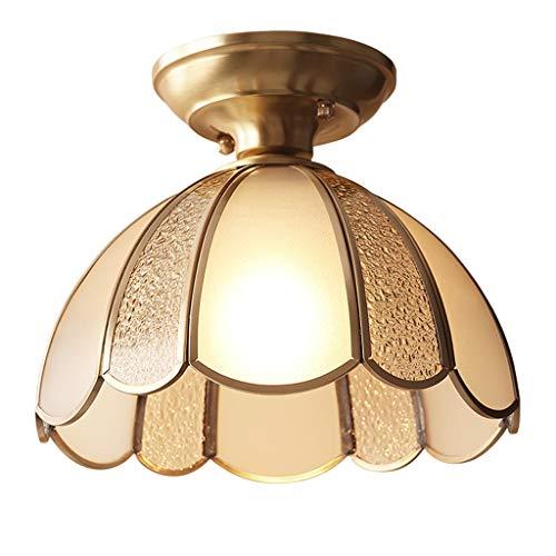 Lámpara de Techo All-copper Lámpara de techo estadounidense Pasillo Pasillo Balcón Personalidad creativa Lámparas simples Luminaria de Techo