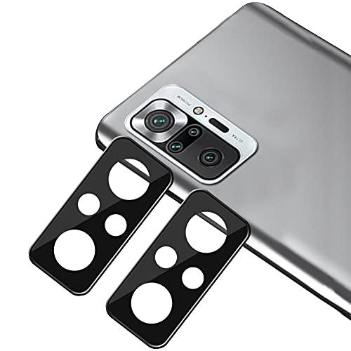 xinyunew [2 Pack Protector de Lente de cámara para Xiaomi Redmi Note 10 Pro/Note 10 Pro MAX cámara, Protector de Pantalla [9H Dureza ] [Sin Burbujas] Cristal HD Vidrio Templado para Xiaomi cám