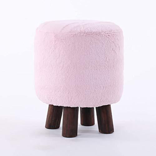 YLCJ – Kruk, rond, modieus, eenvoudige bank van massief hout, kruk voor banken/krukken, creatief, wasbaar, kleur E