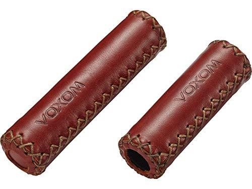 Voxom grepen Gr16 donkerbruin, 125/95mm, leder gesloten uiteinde, 718000013, bruin