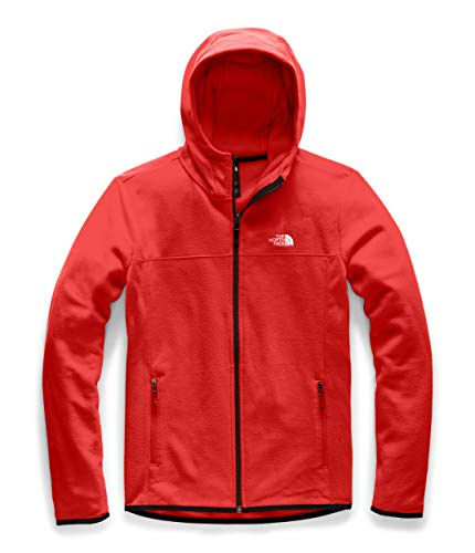 The North Face Women's TKA Glacier Full Zip Hoodie, Fiery Red/Fiery Red, M