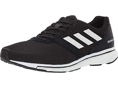 adidas Men's Adizero Adios 4 Running Shoe, black/white/black, 11 M US