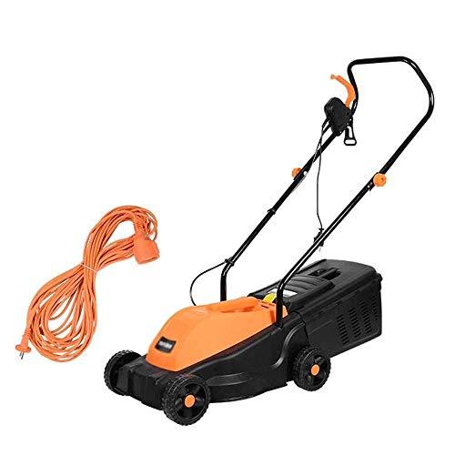 ZDW Gartenpflege Rasenpflege 1300W Elektro-Rasenmäher mit Rädern, elektrischer Multifunktions-Rasenmäher, kleiner Haushalts-Unkrautvernichter, Schnittbreite 32 cm