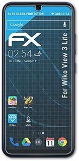 atFoliX Skärmskyddsfilm är kompatibel med Wiko View 3 Lite Film, ultra-klar FX Skyddsfilm (3X)