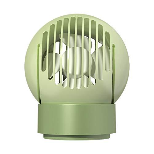 Mefeny Ventilador de escritorio multifuncional silencioso Sub negativo Ion ventilador lámpara de control remoto luz de noche verde