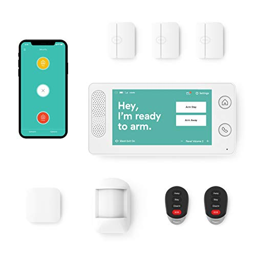Home Security System by Cove - 8 Piece System with 24/7 Professional Monitoring Trial, No Contracts,...