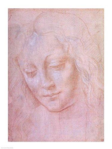 The Poster Corp Leonardo Da Vinci – Kopf einer Frau Kunstdruck (45,72 x 60,96 cm)
