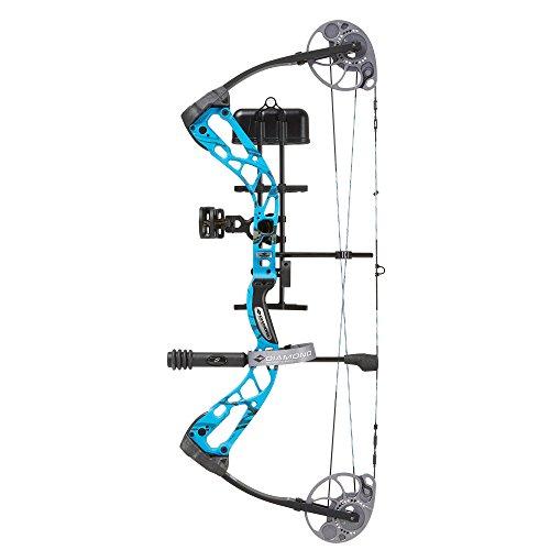 Diamond Archery Edge SB-1 70lb Force Bow, Right Hand, Electric Blue Blaze