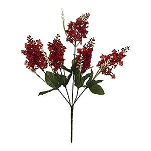 Flowers Silk 5 Burgundy Wine Lilac Wedding Bouquets Centerpieces Decor Crafts #AFFTM