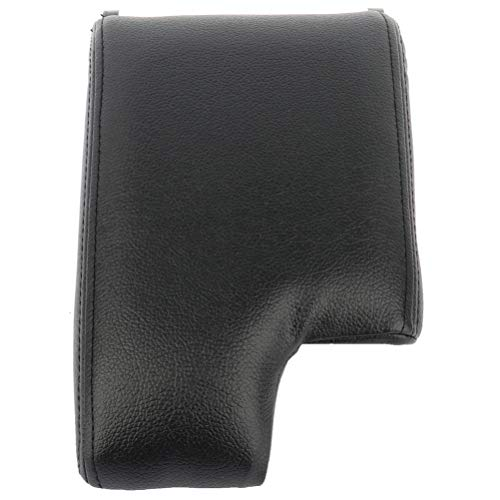 LUJUNTEC Black Center Console Armrest Latch Lid with Skin Cover Fits 1999-2004 For BMW E46 3 Series