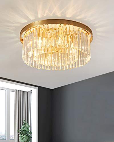 YHNJI Retro Lámpara Colgante Cristal iluminación de Techo Iluminación E14 * 5 Capacidad 220-240 V para Comedor, Dormitorio, Café, Barra de Lectura Luz