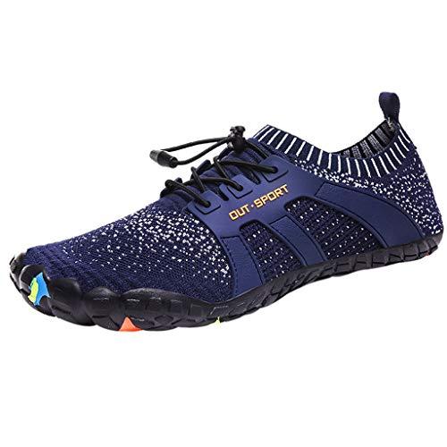 Yivise Hombre Zapatillas de Deporte para Correr al Aire Libre Zapatillas de Malla Deportes recreativos Calzado Transpirable