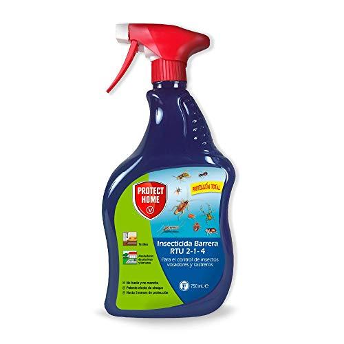 Protect Home - Insecticida Barrera Protección Total, Control de Insectos Voladores y Rastreros , Pulverizador, 750 ml, Color Verde Agua
