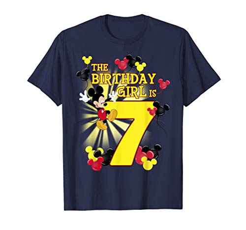 Disney Mickey & Friends 7 Year Old Birthday Girl T-Shirt
