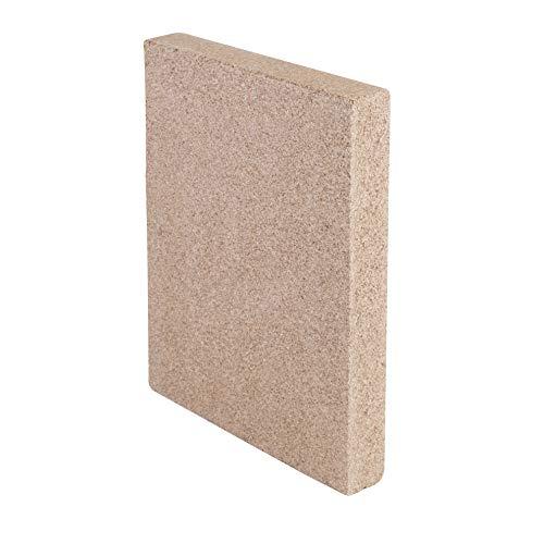 KaminoFlam Vermiculite Platte - Schamottstein Backofen - Schamotteplatten für Ofen - Schamottestein Kaminofen - Schamotte Ersatz 250 x 124 x 30 mm