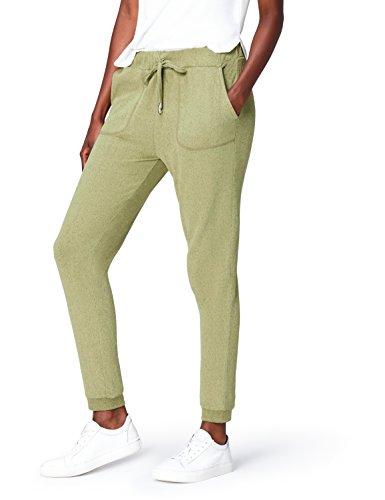 find. Jogginghose Damen mit schmalem Bein und großen Taschen, Grün (Khaki), 40 (Herstellergröße: Large)