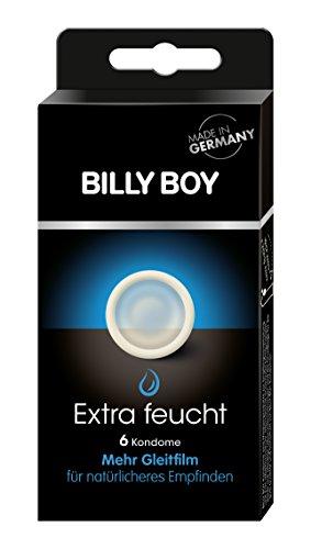 BILLY BOY Extra feucht - transparente Kondome mit mehr Gleitfilm, 6 Stück