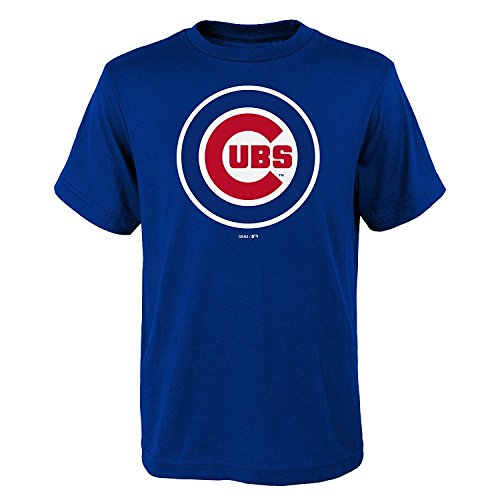 OuterStuff Chicago Cubs Youth Boys Primary Logo T-Shirt - Blue (Youth XL(18-20))